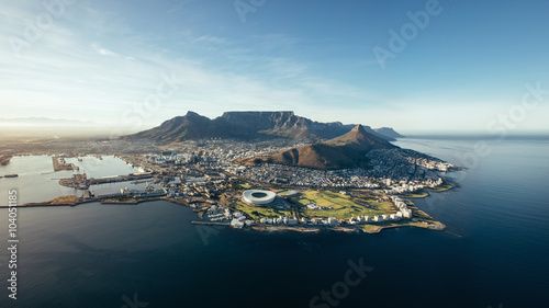 Valokuva  Aerial coastal view of Cape Town, South Africa