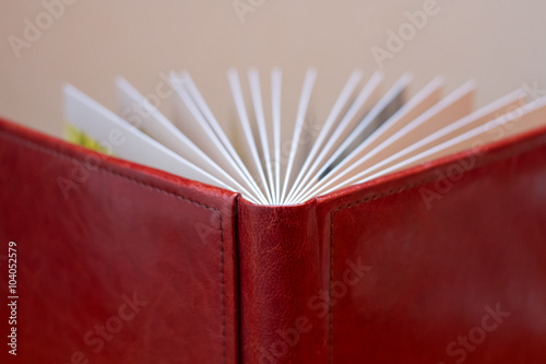 Valokuva  book in a beautiful leather cover