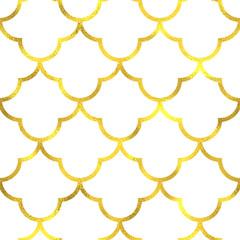 FototapetaGold vintage foil ornamental arabic seamless pattern background
