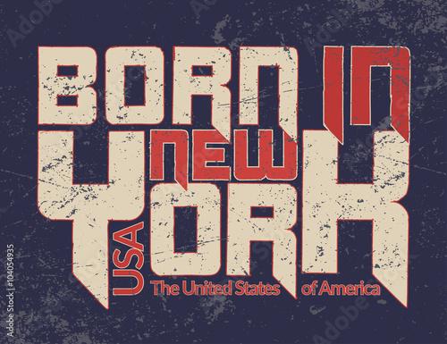new york city typography graphic quote grunge fashion stylish