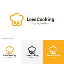Love Cooking , Restaurant  And Bistro Logo Template
