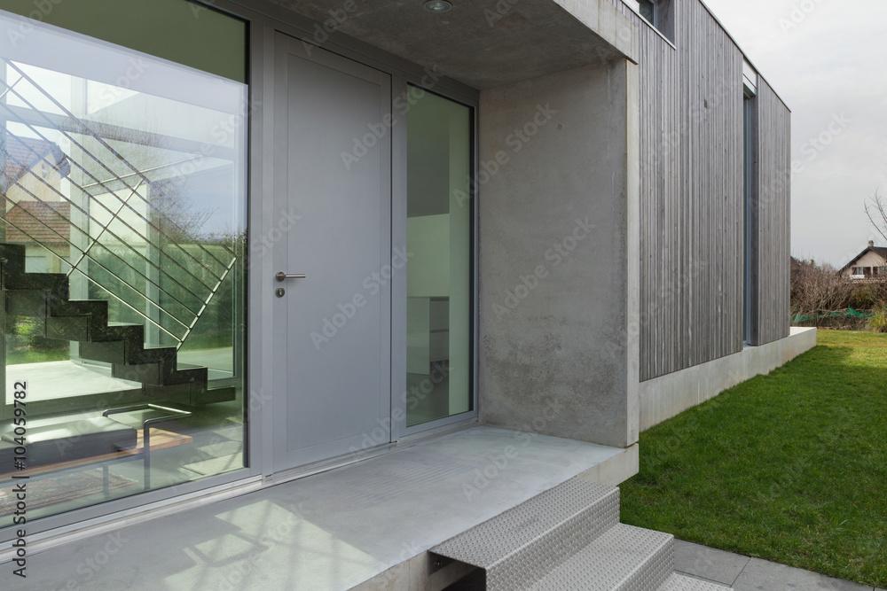 Fototapeta Entrance of a modern house