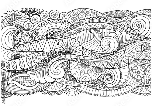 Door stickers Boho Style Boho pattern for background, decorations,banner,coloring book,cards and so on