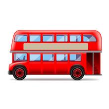 London Bus Isolated On White V...
