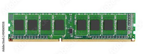 Fotografie, Tablou DDR RAM memory module