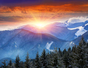 FototapetaEvening in mountains