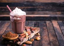 Chocolate Milkshake With Whipp...