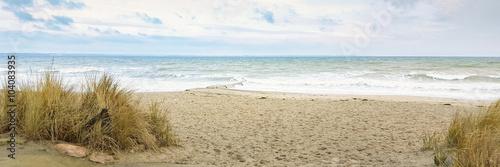 Fotografie, Obraz  Urlaub am Meer - Dünen und Sand an der deutschen Küste - Banner / Panoroma