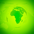 canvas print picture - Green World Globe. Europe and Africa.