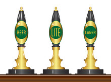 Isolated Beer Pumps