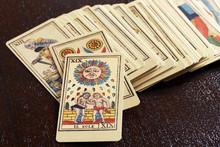 Set Of Old Pictorial Tarot Cards