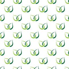 FototapetaGreen leaves seamless pattern