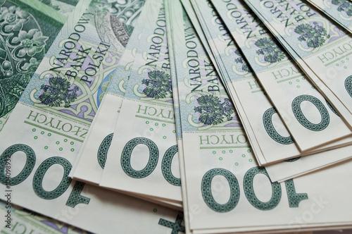 Cuadros en Lienzo Fondo de 100 zloty polaco