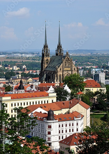фотография  The Cathedral and the city of Brno, Czech Republic, Europe
