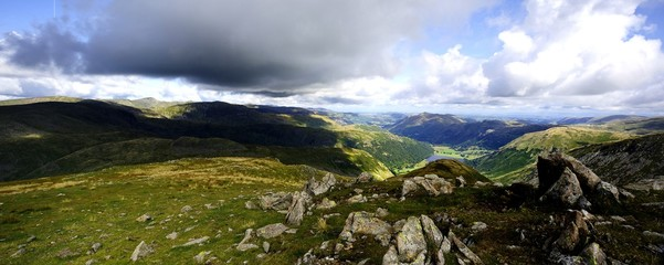 Helvellyn from Red Screes