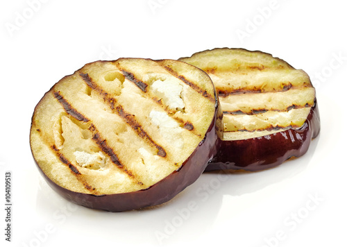 Photo  grilled eggplant slices