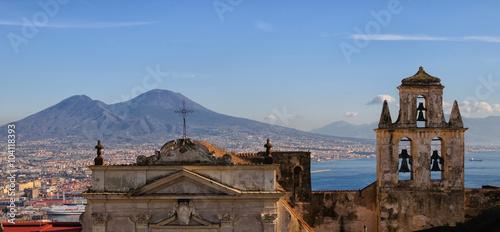 Spoed Foto op Canvas Napels Vista del golfo di Napoli con il Vesuvio