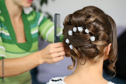 Fototapeta Fryzura na ślub obraz