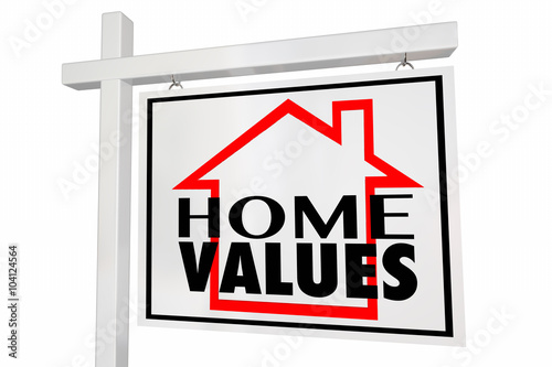 Valokuva  Home Values House for Sale Real Estate Sign Trends Asset Valuati