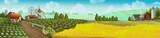 Das Landpanorama. Die Welt auf der Farm