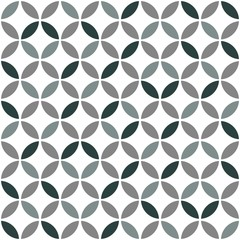 Fototapeta Grey Geometric Retro Seamless Pattern