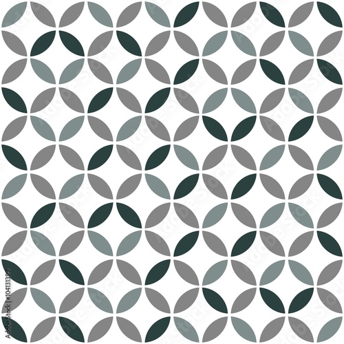 plakat Grey Geometric Retro Seamless Pattern