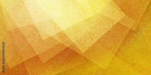 abstract yellow gold background with layers of transparent shapes in random pattern, cool modern background design for website or graphic art projects