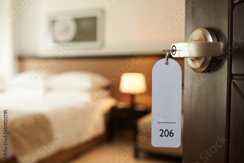 Fototapeta Entering hotel room obraz