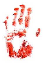 Bloody Red Hand And Fingers Pr...