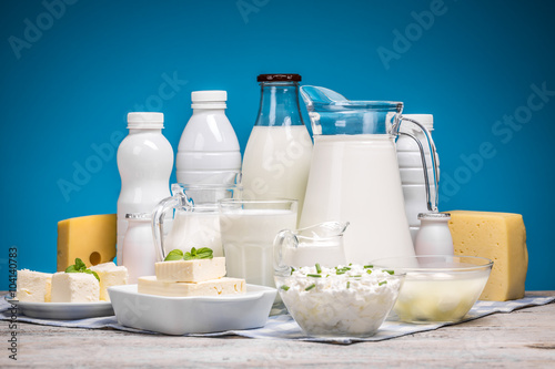 Poster Produit laitier Tasty healthy dairy products
