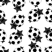 Seamless Pattern Of Soccer Bal...