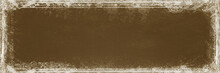 Vintage Banner - With Shabby Chic Antique Ornament Border - Grey