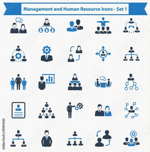 Fotografía  Management and Human Resource Icons - Set 1