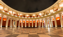 Zappeion Megaro Inner Yard By Night, Athens