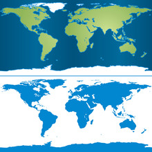 Illustration Of Earth Map In Cylindrical Mercator Projection