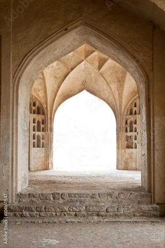 Photo Series of exquisite curve arches of a passageway inside the fort