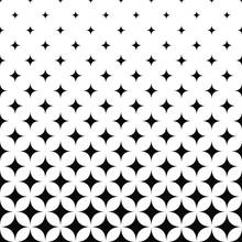 Seamless Monochrome Curved Star Pattern