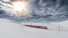 Swiss Mountain Train Bernina E...