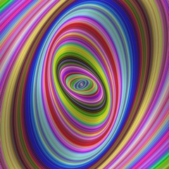 FototapetaColorful hypnosis - colorful fractal background