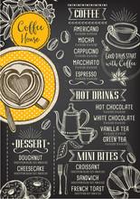 Coffee Restaurant Cafe Menu, T...