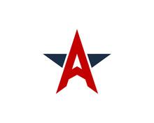 Letter A Star Logo Design Element