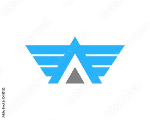 Photo Letter A Aero Wing Logo Design Element