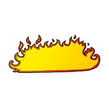 Cartoon Fire Border