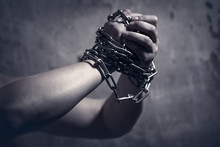 Male Hands With Chain