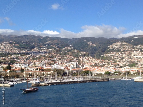 Funchal Madeira vom Meer aus Poster