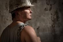 Man In A Helmet Miner