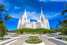 San Diego, California At San Diego California Mormon Temple.