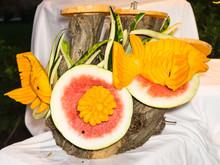 Watermelone Pumpkin Carving Art
