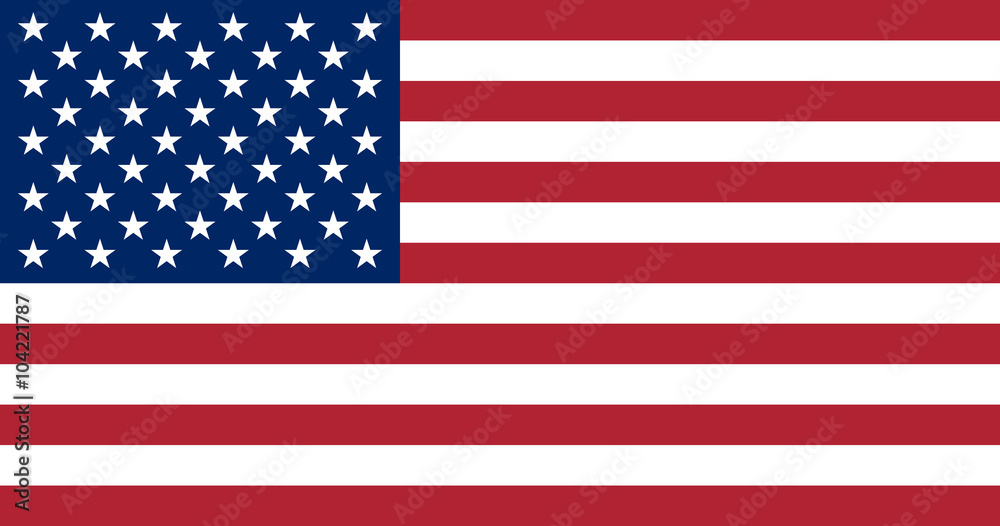 Fototapety, obrazy: United States of America flag. The correct proportions and color