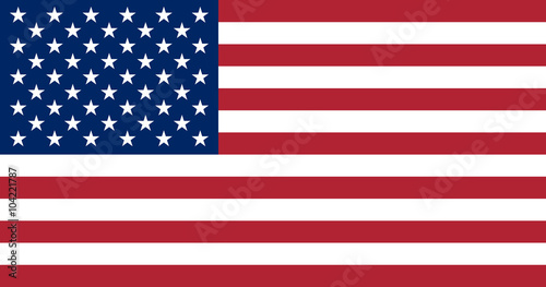United States of America flag. The correct proportions and color Fototapet